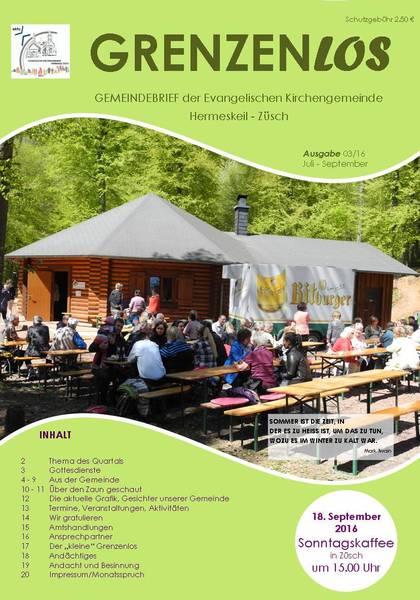 Gemeindebrief der Evangelischen Kirchengemeinde Hermeskeil Züsch