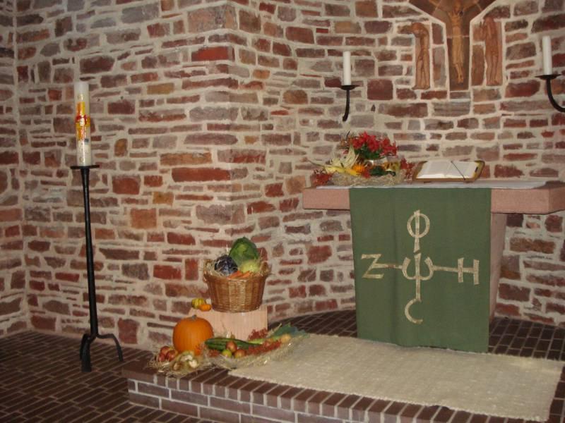 Altar evangelische Kirche Mariahütte