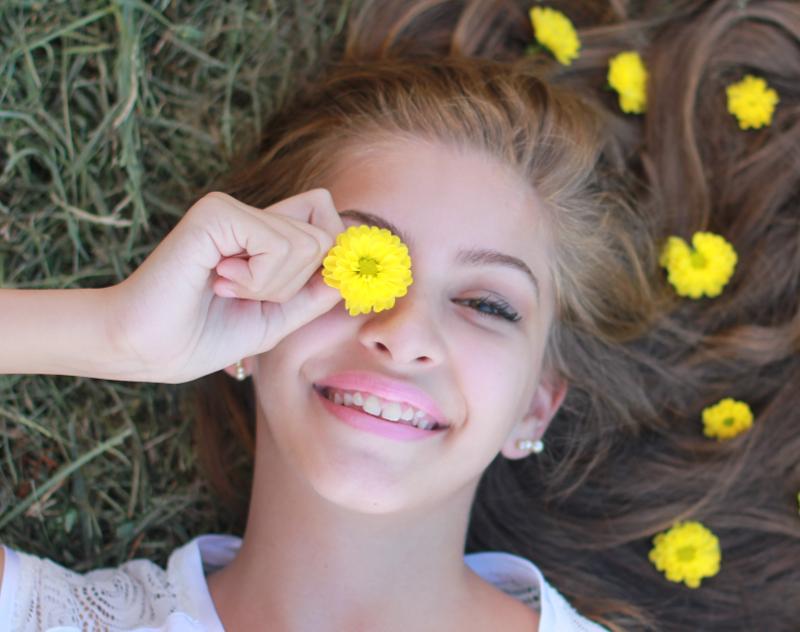 Mädchen Blumen
