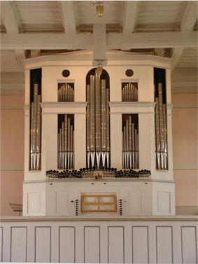 Spanische Orgel evangelische Kirche Züsch