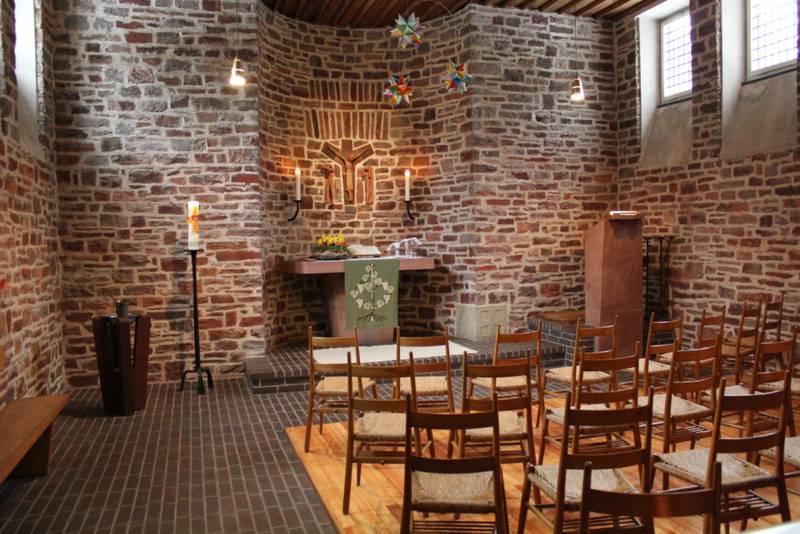 Innenansicht evangelische Kirche Mariahütte